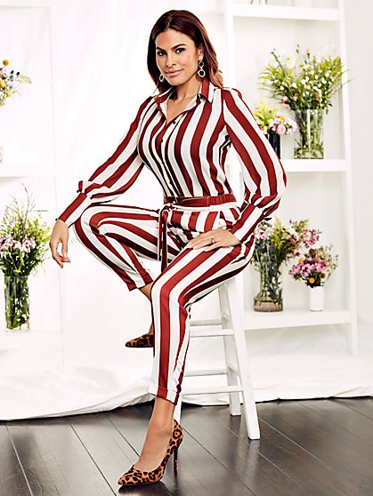 Kelsey Stripe Blouse - Eva Mendes Collection - New York & Company