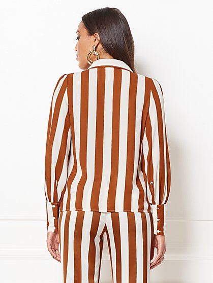 1b0abdde8a2 ... Kelsey Stripe Blouse - Eva Mendes Collection - New York   Company ...