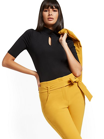 Keyhole Mock-Neck Top - 7th Avenue - New York & Company