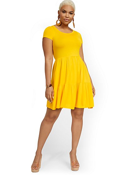 Knit Babydoll Dress - New York & Company