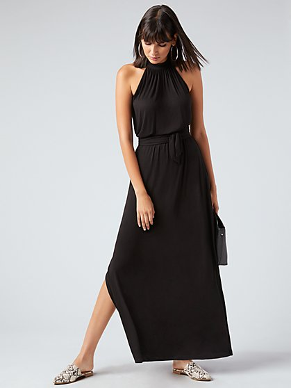 Knit Halter Maxi Dress - NY&C Style System - New York & Company