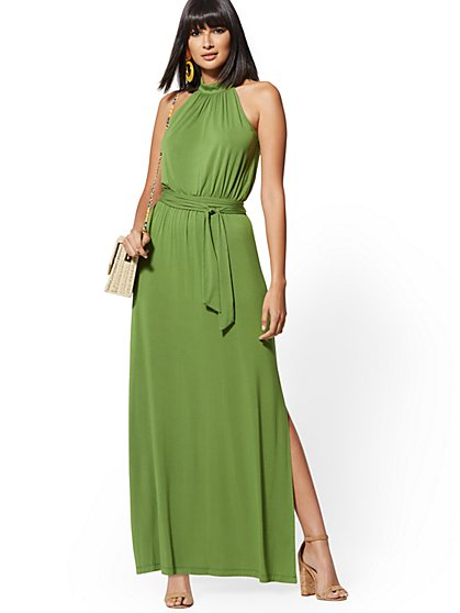 5b54b49cb22a Knit Halter Maxi Dress - NY&C Style System - New York & Company ...