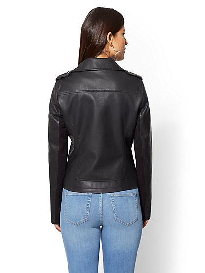 Faux Leather Jackets For Women Ny C