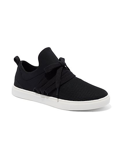 Knit Lace-Up Sneaker - New York & Company
