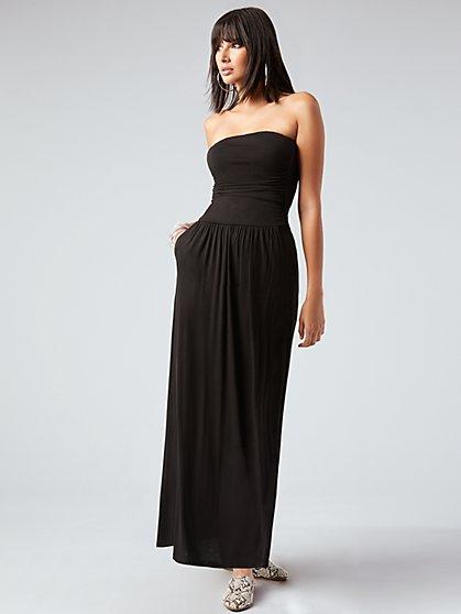 0f804941e Knit Strapless Maxi Dress - NY&C Style System - New York & Company ...