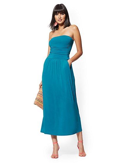 eae0917aad1 Knit Strapless Maxi Dress - NY&C Style System - New York & Company ...