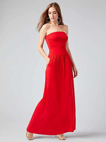 Knit Strapless Maxi Dress - NY&C Style System - New York & Company