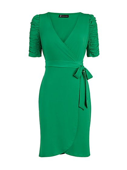Knit Wrap Dress - New York & Company