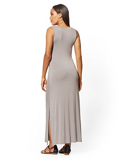 9cc113aa78397 ... Knot-Front Sleeveless Maxi Dress - Soho Street - New York & Company