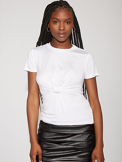 Knot-Front Tee - Gabrielle Union Collection - New York & Company