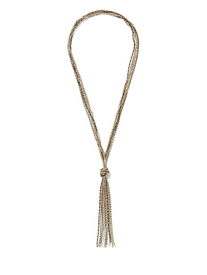 Knot-Tassle Necklace - New York & Company
