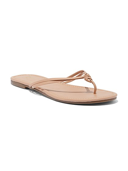 Knot Thong Flip-Flop Sandal - New York & Company
