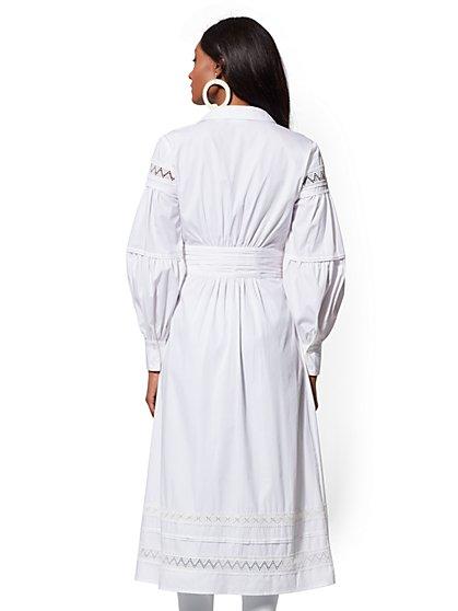 ... Lace-Trim Poplin Wrap Maxi Shirt - Lily & Cali - New York ...