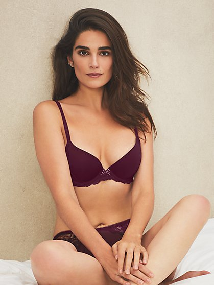 Lace Trim Uplift Bra - New York & Company