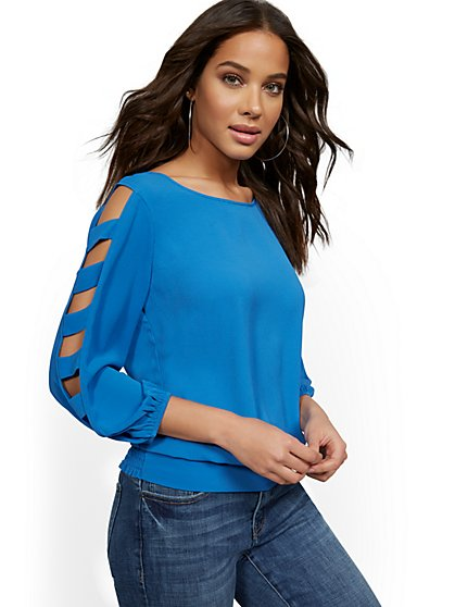 Ladder-Sleeve Top - New York & Company
