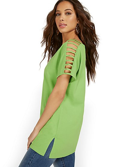Ladder-Sleeve Tunic Top - New York & Company