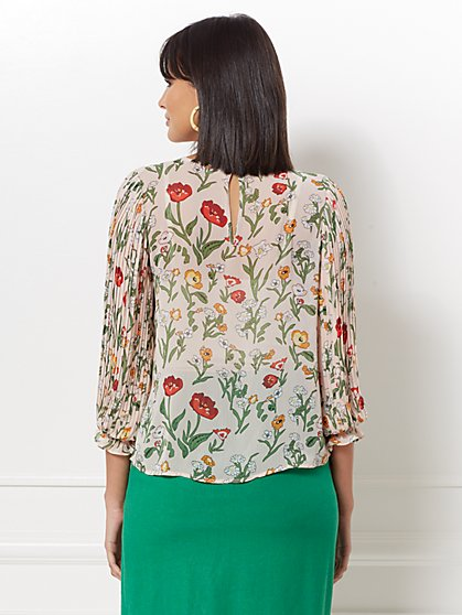 74aa57d8a4325 ... Laila Floral Pleated-Sleeve Blouse - Eva Mendes Collection - New York    Company ...