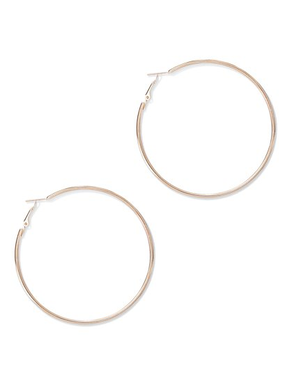 Large Goldtone Hoop Earring - New York & Company