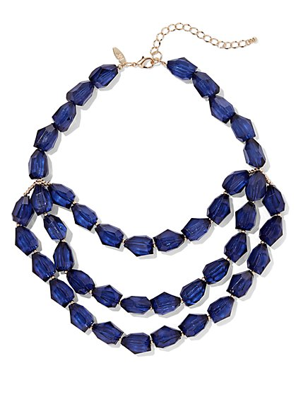 Layered Faux-Stone Necklace - New York & Company