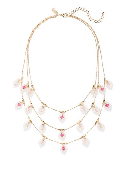 Layered Floral Statement Necklace - New York & Company