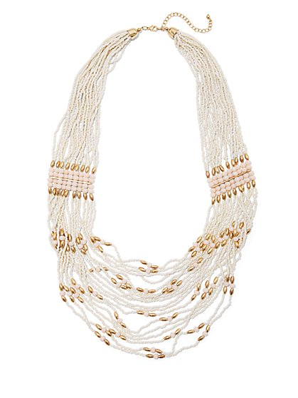 Layered Seed Bead Necklace - New York & Company