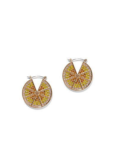 Lemon Hoop Drop Earring - New York & Company