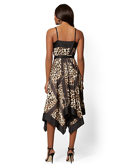 8a038e54a ... Leopard   Chain-Print Wrap Maxi Dress - New York   Company