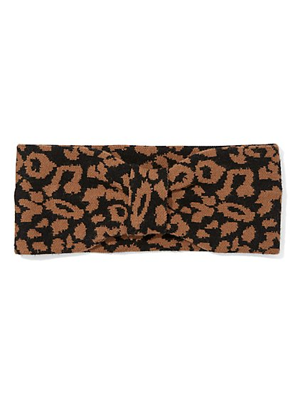 Leopard Head Wrap - Eva Mendes Collection - New York & Company