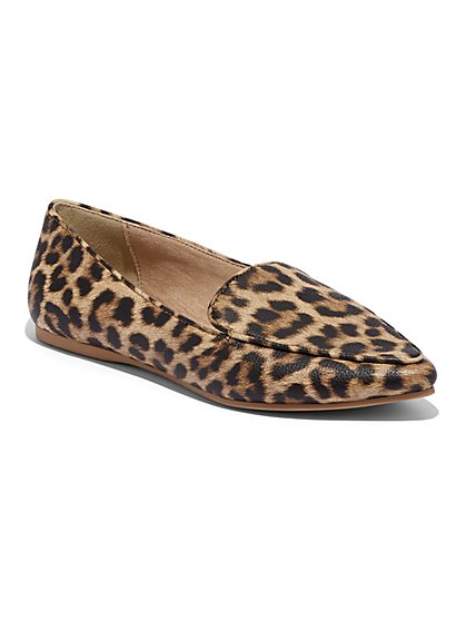 Leopard Pointed-Toe Loafter - New York & Company