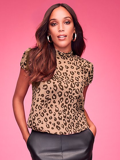 Leopard-Print Blouse - Sweet Pea - New York & Company