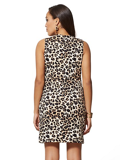 ea4196fe68 ... Leopard-Print Cotton Shift Dress - New York   Company ...