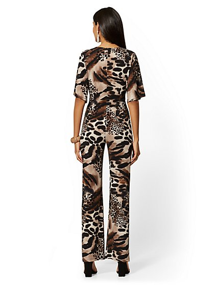 ce4ed79c ... Leopard-Print Dolman Jumpsuit - New York & Company