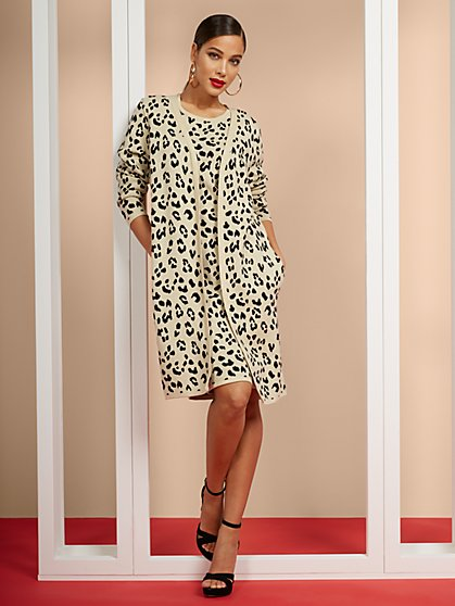 Leopard-Print Duster - New York & Company