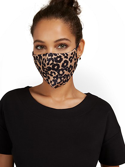 Leopard-Print Face Mask - New York & Company