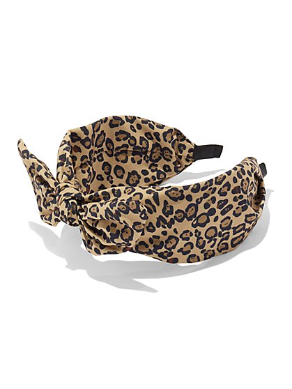 Leopard-Print Headband - New York & Company
