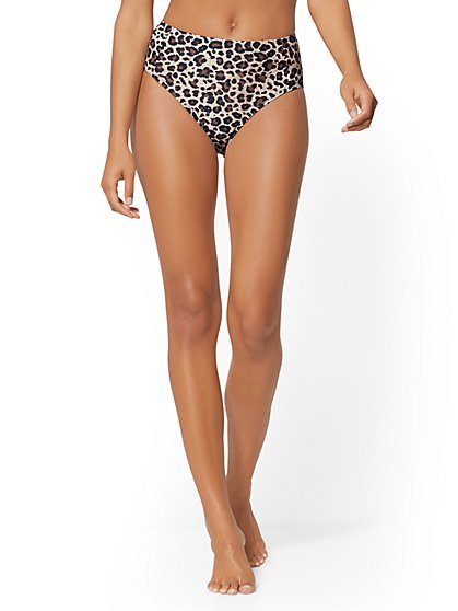13c3d8e03c Leopard-Print High-Waist Bikini Bottom - NY&C Swimwear - New York & Company  ...