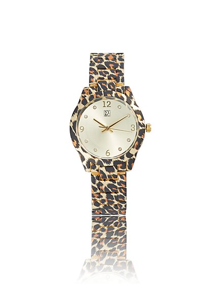 4735e5eba7a Leopard-Print Link Watch - New York   Company