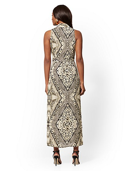 c0f319daf68a ... Leopard-Print Maxi Shirtdress - New York & Company ...