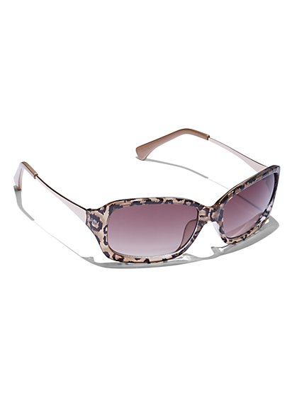 72ac8868cc1f Leopard-Print Rectangular Sunglasses - New York & Company ...