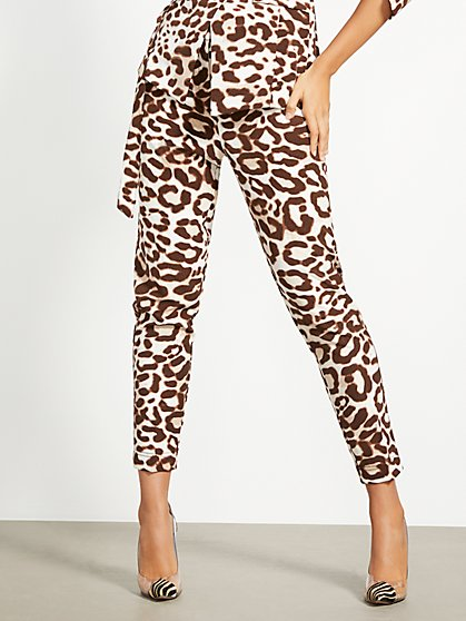 Leopard-Print Slim Ankle Pant - 7th Avenue - New York & Company