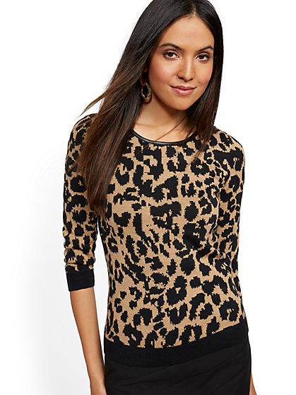 Leopard-Print Sweater - New York & Company