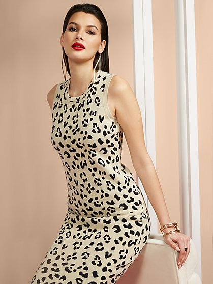 Leopard-Print Tank Sweater - New York & Company