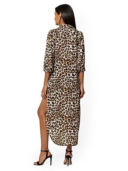 455c6c08924a ... Leopard-Print Tie-Front Hi-Lo Shirt - 7th Avenue - New York ...
