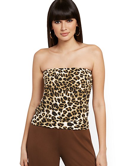 Leopard-Print Tube Top - NY&C Style System - New York & Company