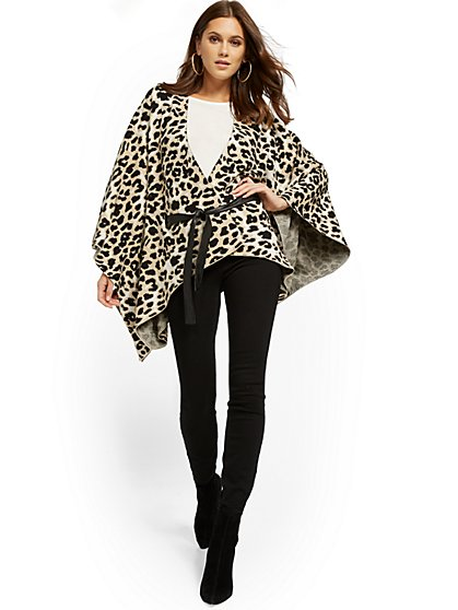 Leopard-Print Wrap - New York & Company