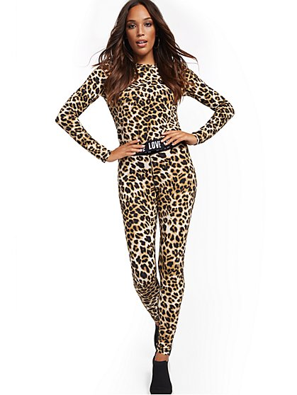 Leopard-Print Yoga Legging - New York & Company