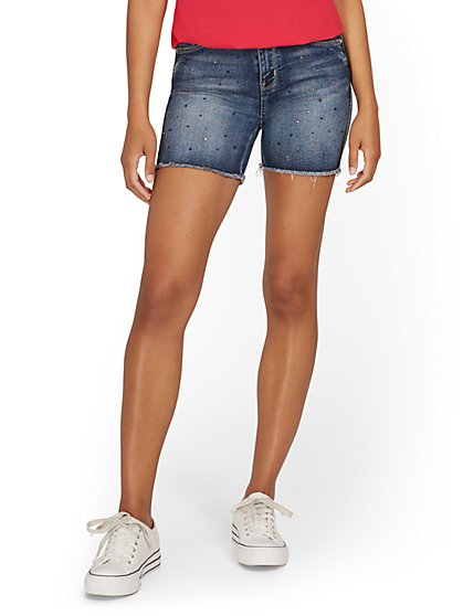 Lexi High-Waisted Rhinestone 5-Inch Short - New York & Company