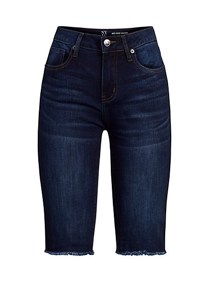 Lexi Mid-Rise Super-Skinny 13-Inch Short - Bluebird Blue - New York & Company