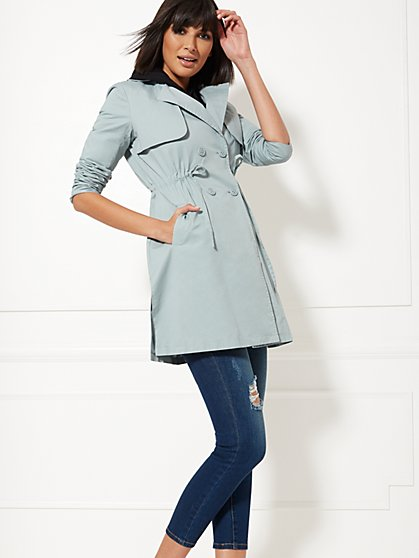 Light Blue Anorak Coat - New York & Company