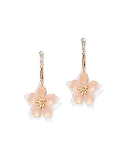Linear Floral Drop Earring - New York & Company